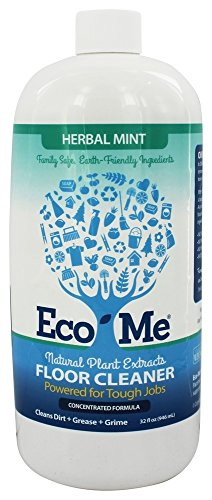 Eco-Me Natural Multi-Surface Floor Cleaner, Herbal Mint, 32 Fluid Ounce