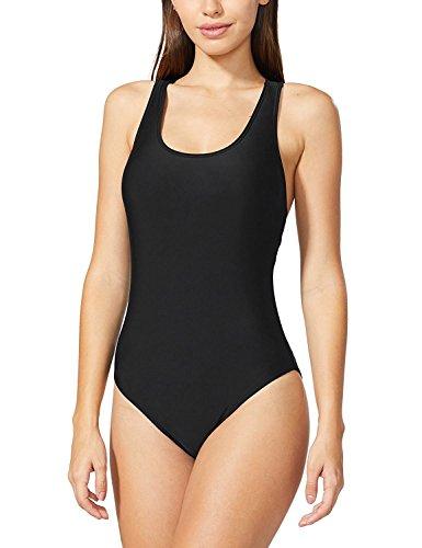 HOYEER Women's Sexy Cross Swimsuits One Piece Retro Back Bathing Suits (Women Black Bathing)