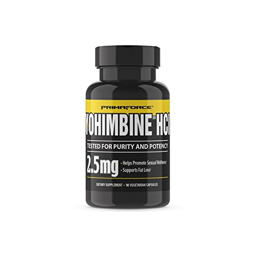 PrimaForce Yohimbine HCl, 90 Count 2.5mg Capsules - Weight Loss Supplement – Supports Fat Loss / Enhances Sexual Wellness