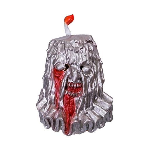 Wellin Candle Man Creative Scary Latex Mask ,