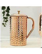 Pure Copper Pitcher jug for Ayurveda yaga Health Benefit Hammered Tumbler Jug