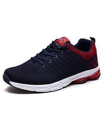 new arrival 20e4c f91cd Zapatillas Running para Hombre Aire Libre y Deporte Transpirables Casual  Zapatos Gimnasio Correr Sneakers Azul 44