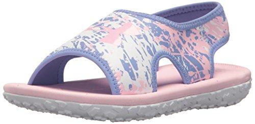 (Under Armour Girls' Pre School Fat Tire II Slide Sandal, Talc Blue (500)/White, 11K )