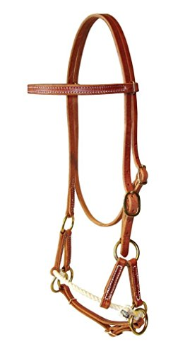 (Berlin Custom Leather Side Pull Hermann Oak Single Rope Chestnut H4000)