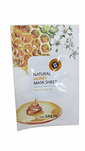 [4 Mask Sheets of The SAEM Natural Honey Mask Sheet (Glowing). (0.71 fl.oz./ sheet.)] (Peeling Face Costume)