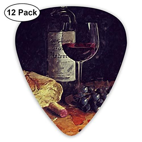 - CoolStuff Wine Bread Grape Painting Guitar Picks,Acoustic Electric Guitar Ukulele Bass Thin Medium Thick Guitar Plectrums,Abstract 12 Pcs