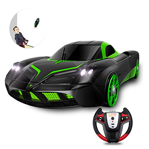 (YEZI Rc Cars for Kids,360°Rotating Stunt Dual Mode Climbing Car Rechargeable, Head and Rear with Powerful LED Light,Remote Control Car Boy Toys for 3 4 5 6 7 8-16 Year Old Best Gifts)