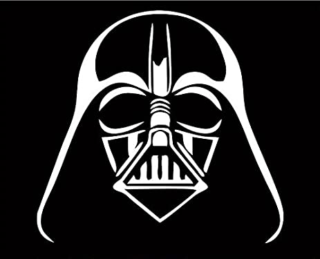 Star wars 4 tall darth vader helmet decal sticker for laptop car window tablet skateboard