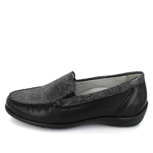 Loafer Women's Black 640004 Metallic Waldlaufer 1Yx4B7