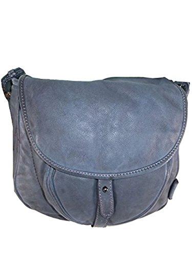 VOi Borsa secchiello VOi Design Blau donna a Leather Leather rYgqrz