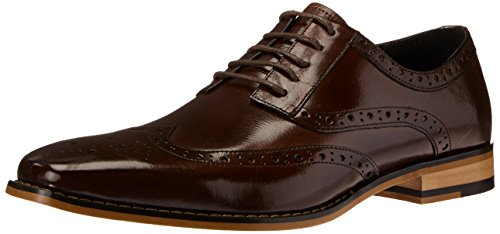 Stacy Adams Mens Tinsley Wingtip Veter Oxford Bordeaux