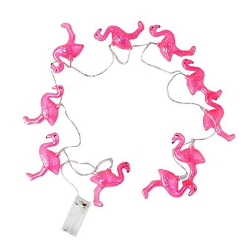 Plastic Flamingo Lights (Outdoor LED String Lights Flamingo Fairy Lights Wedding Garden Decoration 1.5m)