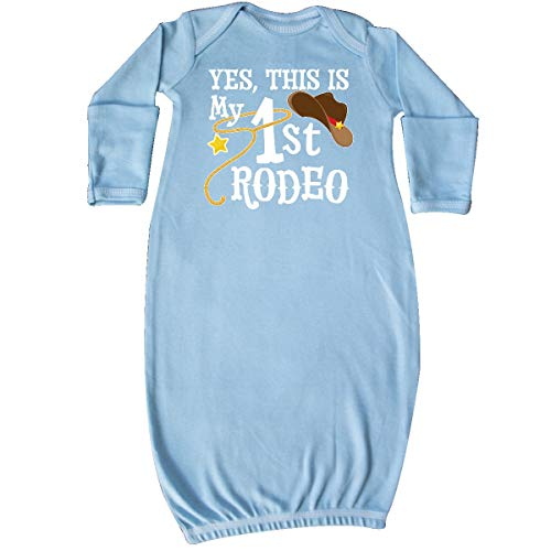 inktastic - Yes, This is My 1st Rodeo- Cowboy Newborn Layette Light Blue 35612