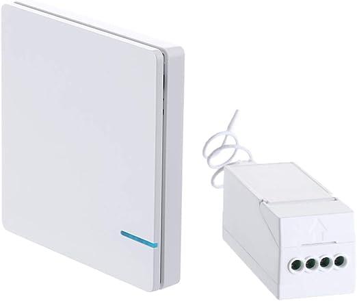 Interruptor de pared inalámbrico sin marco, montaje en cualquier ...