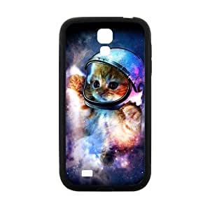 Custom Animal Dibujos Animados Galaxy Hipster Cat Diseño Printed Case for Samsung Galaxy S4