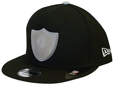 New Era Oakland Raiders Badge Brilliant Adjustable Snapback Hat from New Era