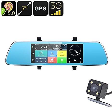 BW Full HD espejo retrovisor coche DVR – 7 pulgadas, Android 5.0, GPS,