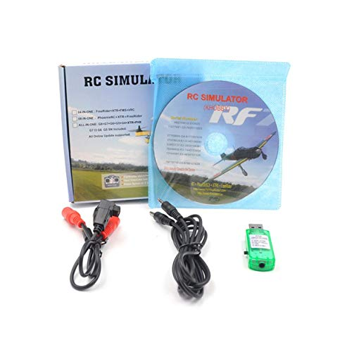 anyilon Rc Simulator Wireless Cable 20In1 Flight Simulator Cable USB Dongle for Rc Helicopter Aeroplane Car Toys
