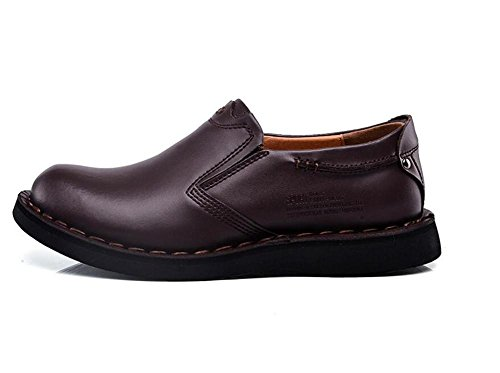 Martin nbsp; Chaussures Hommes 38To43 Fait Entreprise brown Semelles nbsp;Cuir main véritableGlisser souples dark Taille sur 4F4g8wfnx