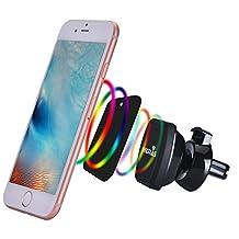 Widras Air Vent Magnetic Car Mount Phone Holder, Universal Cradle for Smartphone iPhone 7 7 Plus / 6s Plus / 6s / 6 / Galaxy S7 / S7 Edge / EdgeS6 / S6 Edge / Galaxy Note 5 / Nexus 6 / GPS Mobile