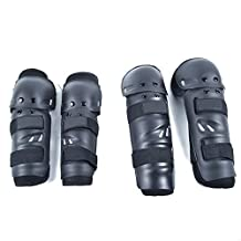 Logas 4 Pcs Elbow & Knee Protective Gear Safeguard for Mountain Bicycle Motobike Adult Cycling Protector Guard Pads Black