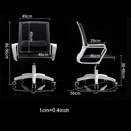 AJMINI kontorsstol med armar kontorsstol dator läder arbetsstol, ergonomisk med hjul bekväm läderstol, justerbar roterande lyft arbetsstol skrivbordsstol