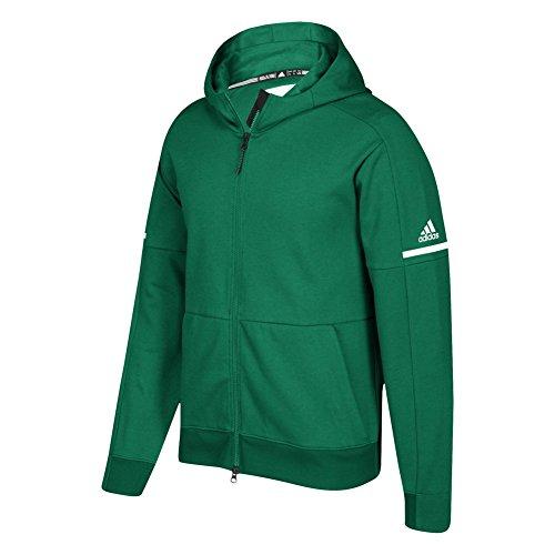Adidas Spel Gebouwd Squad Id Rits Hoodie Groen-wit