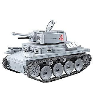 Lingxuinfo Tank Building Kit, 535 Pieces Military Army Tanks Building Block Set Military Tank Vehicle for Adults Compatible with All Major Brands