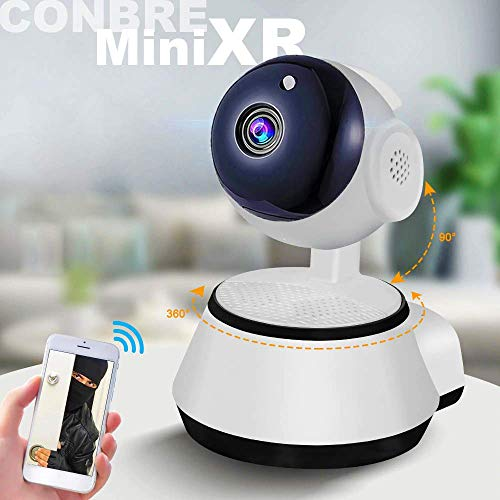 Conbre MiniXR V380 Pro Wireless HD Security CCTV Camera | Night Vision | Supports up to 64gb SD Card