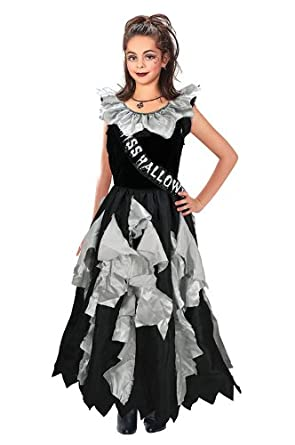 Childrens Zombie Prom Queen Halloween Fancy Dress Costume Outfit 8-10 Years