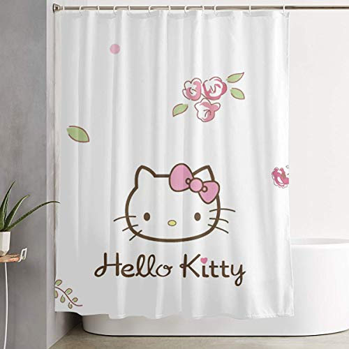 LIUYAN Shower Curtain with Hook - Hello Kitty Waterproof Polyester Fabric Bathroom Decor 60 X 72 Inches