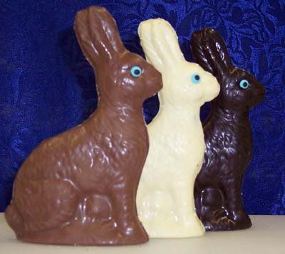 5.5 Inch Dark Chocolate Hollow Easter Bunny (Easter Bunny Chocolate compare prices)