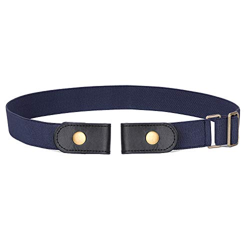 (SANSTHS Buckle-Free Elastic Women Belt for Jeans Without Buckle, Comfortable Invisible Belt No Bulge No)