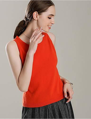 Sin verano Red Color Para Iyfbxl Liso En Mujer Camiseta Mangas Racerback vw5fz