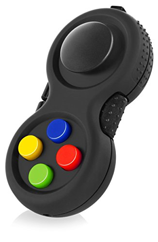 The Original Fidget Retro: The Rubberized Classic Controller Game Pad Fidget Focus Toy with 8-Fidget Functions and Lanyard - Perfect for Relieving Stress (Original Version) ()