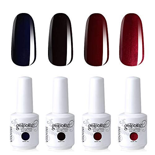 LED Lamp Gel Polish Long-lasting Manicure Kit 4 Colors Set C192 ()