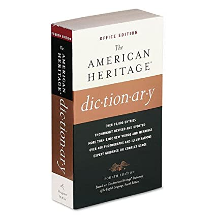 Merveilleux Houghton Mifflin American Heritage Office Edition Dictionary, Paperback,  960 Pages (0618077065)