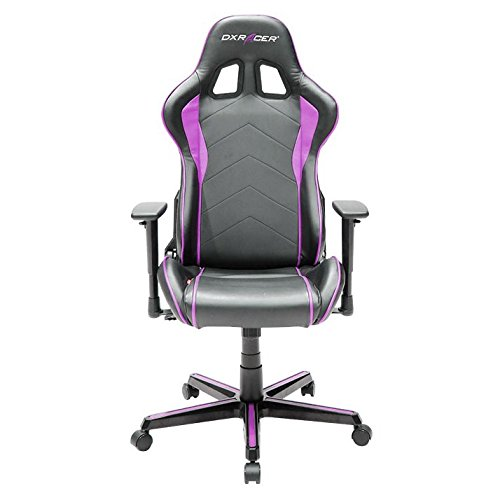 DXRacer OH/FH08/NP Formula Series Black and Pink Gaming Chair - Includes 2 Free Cushions and on Frame