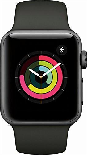 Apple Watch Series 3 (GPS) 38mm Smartwatch (Space Gray Aluminum Case, Gray Sport Band)