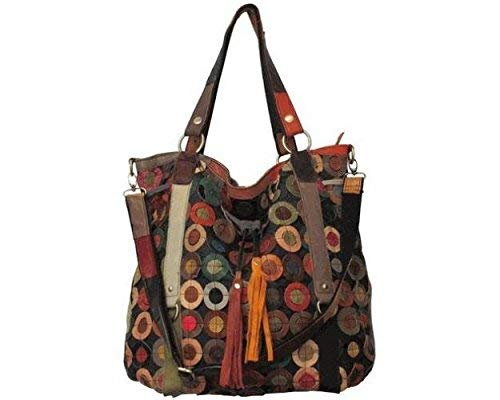AmeriLeather Multi-Colored Lloyd Leather Tote (Rainbow) ()