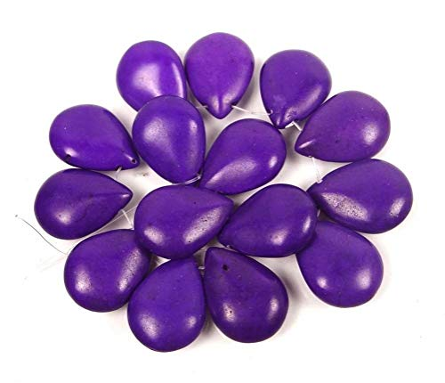 - (15 Beads) 25x18mm Purple Turquoise Briolette Teardrop Beads