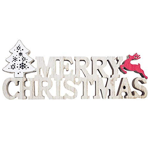 - Merry Christmas Sign Wooden Marquee Christmas Signs Lighted Merry Christmas Standing Sign for Christmas Decoration 1PC (B)