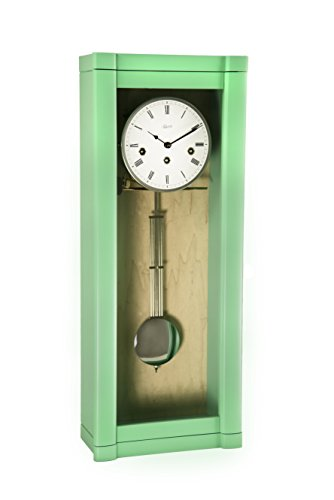 Qwirly German ROSSLYN Regulator Wall Clock with 8-Day Westminster Chime By Hermle 70963-TL0341 Close Out (Regulator Clock Glass)