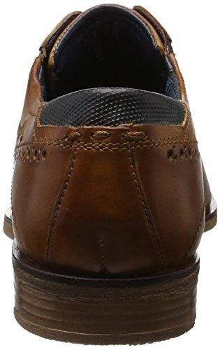 311251011100, Zapatos de Cordones Derby para Hombre, Marrón (Cognac), 41 EU Bugatti