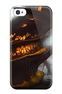 Iphone 4/4s Case Slim [ultra Fit] Glowing Tree Belly Protective Case Cover