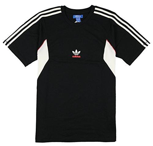 Adidas Men's Teorado Track Shirt XX-Large Black White Pink (Air Max And Pink 95 Black)