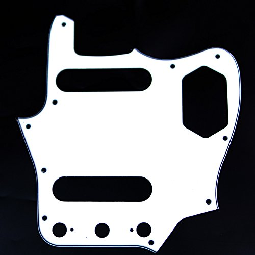 (Replacment Pickguard For Jaguar style Guitar ,3Ply White /Japan Reissued)