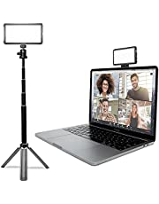 Lume Cube Broadcast Lighting Kit | Live Streaming, Video Conferencing, Remote Working | Lighting Accessory for Laptop, Adjustable Brightness and Color Temperature, Computer Mount Included