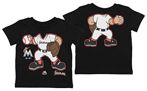 (Outerstuff MLB Toddler's Pint Size Pitcher Short Sleeve Tee, Miami Marlins 3T )