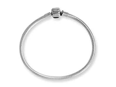 d2cc1047c Amazon.com: Reflections Sterling Silver SimStars Clasp Bead Bracelet 8.25  inches: Charm Bracelets: Jewelry